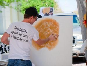 Artist Painting at Baldwin Park Arts Fest