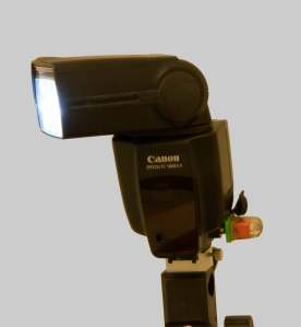 Canon 580EXII Speedlite with Optical Adapter