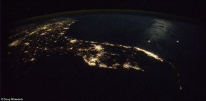 View of Florida at night from space