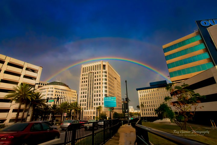 Rainbow over Downtown Orlando