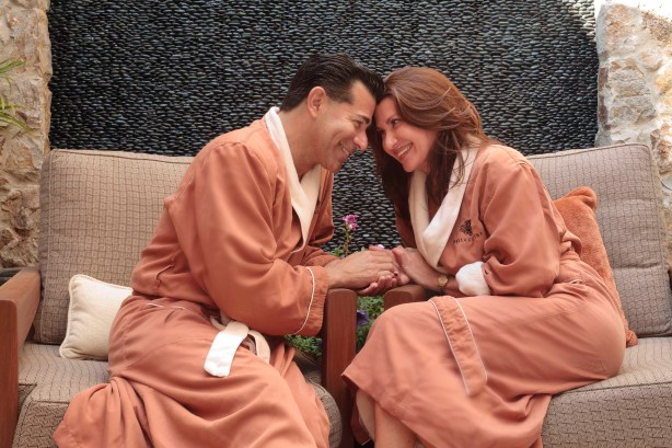 Couple at the Bella Collina Spa