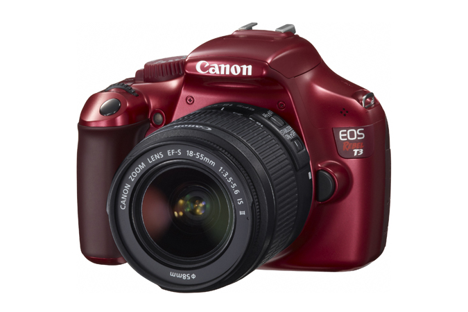 Red Canon Rebel T3