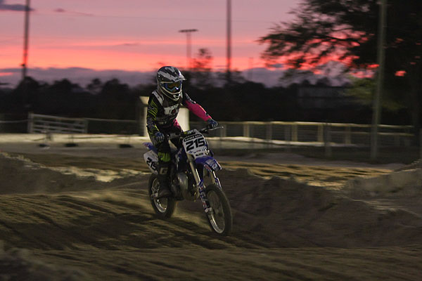 Motocross Rider at Sunset