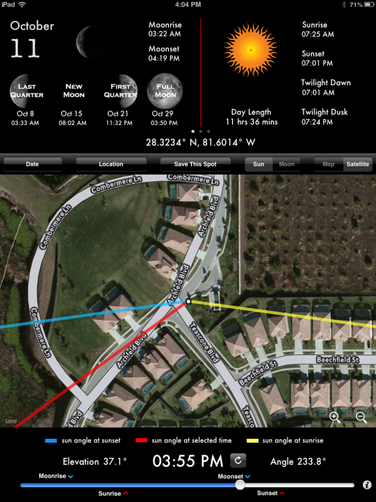 Apps to Track the Sun (1/3)