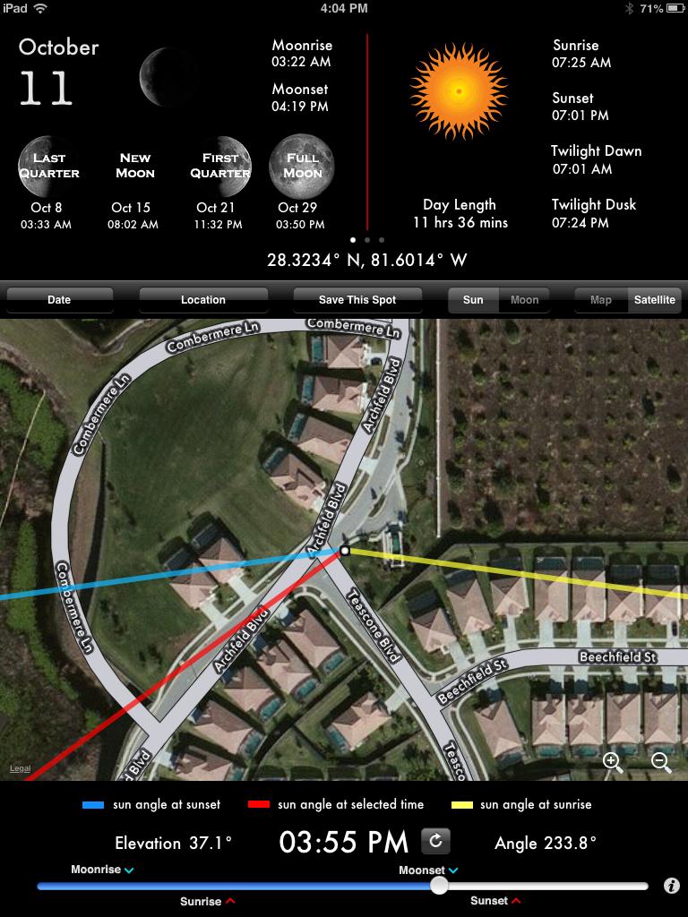 Sreengrab of LightTrac app