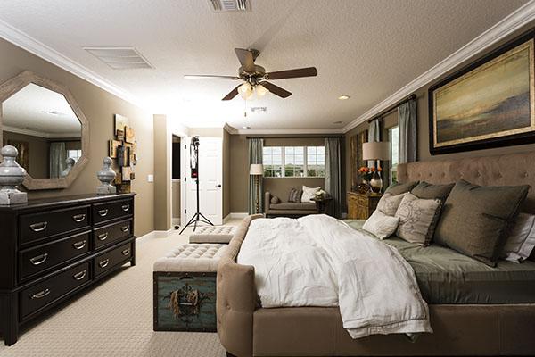 bedroom set-up shot